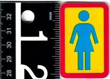 GIRL SKATEBOARDS STICKER Girl Classic OG 1.4 in x 2.2 in Red/Blue/Yellow Decal