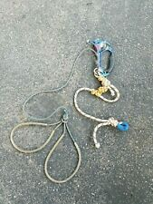 Petzl climbing ascender with foot loops and cord - 1/2 frog system