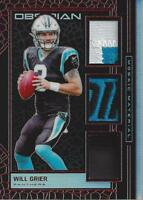 2019 Panini Obsidian Mosaic Materials Electric Etch Red #5 Will Grier Jersey /5