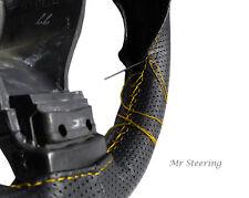 Perforata in pelle Volante Copertura Giallo STITCH PER MERCEDES ML W163 97-05