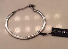 Vince Camuto Silver-tone Crystal Bangle Toggle Bracelet