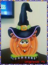 HP Wooden Pumpkin Shelf Sitter, Halloween Figurine.
