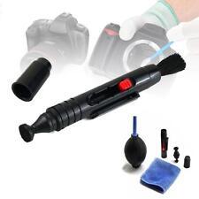 3 en 1 Kit Nettoyage Optique Blower Poussière Pen Brush Cloth Pour DSLR Canon EW