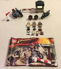 Lego 7620 Indiana Jones Motorcycle Chase Last Crusade Complete 2008.