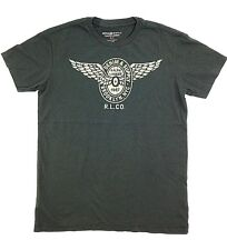 $145 Ralph Lauren Men Gray White 1967 Wings Graphic Crew Neck T Shirt Tee Size L