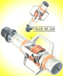 Used Eggbeater 2 Orange Crank Brothers Clipless Pedals egg beater RARE Fast Ship
