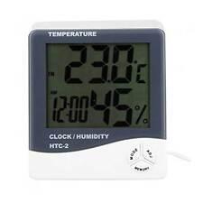 Termometro misuratore temperatura interno esterno umidità calendario HTC-2 NERO