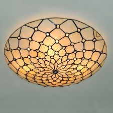 Classic Tiffany Stained Glass Ceiling Light Retro Flush Mount Chandelier Fixture