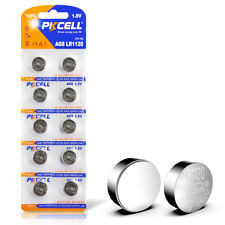 10x AG8 LR55 391 LR1120 LR1121 1.5V Alkaline Batteries for Remote Control PKCELL