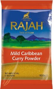 100g Rajah Caribbean Mild Curry Powder  - Finest Quality