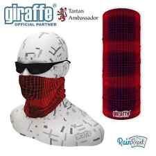 Inferno Scottish Tartan Multifunctional Headwear Neckwarmer Snood Bandana Tube