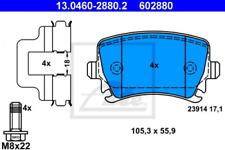 Bremsbelagsatz, Scheibenbremse für Bremsanlage Hinterachse ATE 13.0460-2880.2