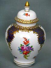 Dresde potschappel balaustre jarrón con knaufdeckel alrededor de 1920