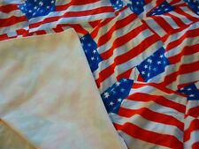 "American flag print fabric-bonded polyester fabric-smooth,soft feel-1 yd 20""x60"""