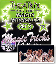 *NEW IN BOX* Theatrix Magic Miracles Cards Trick Tricks Set / DVD - Set 3
