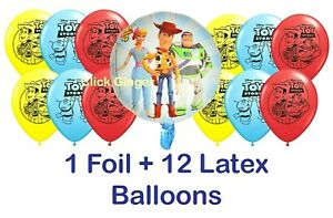 Toy Story Balloons 13pcs Foil Latex Woody Jessie Helium Balloon Party Decoration