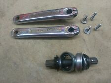 Mongoose 3 Piece Cranks With All Hardware GT Dyno Haro Hutch Redline Robinson