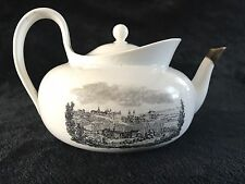 Rare 18th Century Meissen Porcelain Large Tea Pot Altenburg And Albrechtsburg
