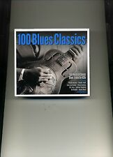 100 BLUES CLASSICS - HOWLIN' WOLF JOHN LEE HOOKER B. B. KING - 4 CDS - NEW!!