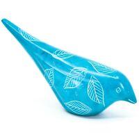 Vaneal Group Hand Carved Dyed Kisii Soapstone Light Blue Bird Figurine Kenya