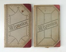 Lot of 2 Antique 1916 Jewelry Watch Repair Store Ledgers