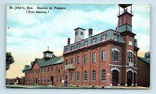 Saint-Jean, Quebec, Canada - FIRE STATION - EARLY 1900s SAINT JOHNS POSTCARD