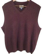 Cutter & Buck Men's cashmere blend plum sweater vest size large