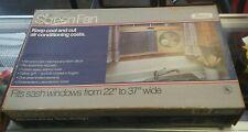 """Vintage Marvin Window Fan 22""""-37"""" Screen Extends Original Box (Not Working)"""