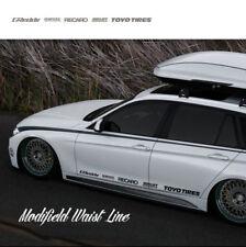 Graphics Vinyl Waist Line Stripe Car Sticker Side Skirt Decal For BMW 2 PCS