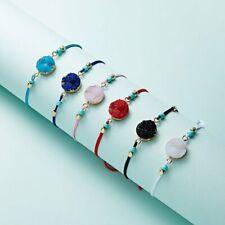 Fashion Charm Make a Wish Natural Stone Card Bracelet Women Jewelry Lucky Gift