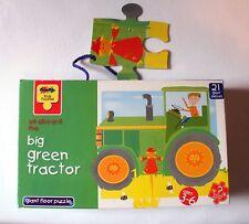 neuwertiges Grafix 21 Teile Kids Puzzel big green tractor in OVP