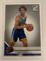 2019-20 Clearly Donruss Jordan Poole Rated Rookie #76