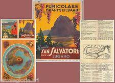 64065 - DEPLIANT TURISTICO d'Epoca - ANNI '30/'50 - MONTE San SALVATORE Lugano