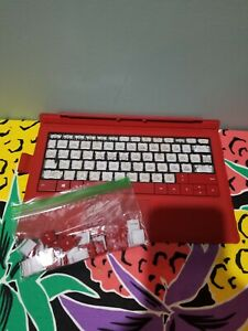 Microsoft surface pro type cover keyboard poppy red with pen loop