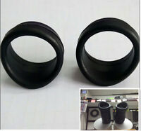 2PCS 32-34mm Dia Rubber Eyepiece Eye Cups for Stereo Microscope or Telescope