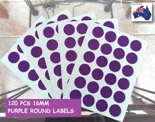 120 Pcs Round Circle Label Sticker Dots Spots Colour Code MediumPurple 16 mm