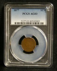 1877 INDIAN HEAD PENNY PCGS AG 3