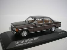 Mercedes Benz 280 E 280E W123 1976 Manganese Brown Metallic 1/43 MINICHAMPS NEW
