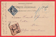 RARE CARTE POSTALE ILLUSTREE RECOMMANDEE N°90 POITIERS NICE LETTRE COVER