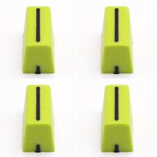 4pcs Channel Crossfader Fader Cap Knob For RANE TTM57 TTM57mkll TTM57SL (GREEN1)