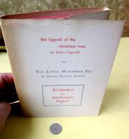 KEEPSAKES On STRATHMORE PAPERS,1955,Selma Lagerlof,F. Hodgson Burnett,DJ,Box