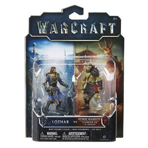 World Of Warcraft Mini Figure 2 Pack  LOTHAR VS HORDE WARRIOR