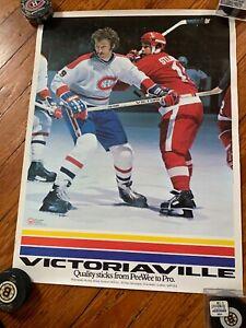 VINTAGE Montréal Canadiens Victoriaville Poster 24 X 18