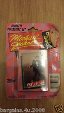 Michael Jackson Topps Trading Cards 33 PHOTO CARDS UNOPENED COLLECTORS UNSIGNED