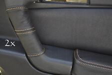Se adapta a Alfa Romeo Gtv Cuero 2x Manija De Puerta cubre Beige