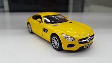 Mercedes AMG Gt Giallo Kinsmart Modello Giocattolo 1/36 Scala