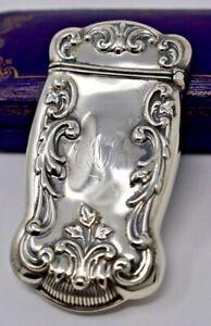 Antique Victorian Gorham Repousse Sterling Silver Vesta Match Case