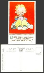 MABEL LUCIE ATTWELL Old Postcard Things I Like About You - Can't Get all In 5139