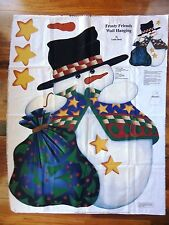 Cranston Craft FABRIC PANEL to make a FROSTY FRIENDS Snowman Wall HANGING