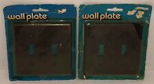 Vintage LEVITON Brown Lot of 2 Double Light Switch Cover Wallplate NOS